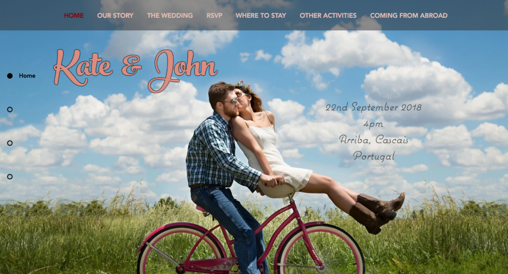 Include the date, time and location on your wedding website