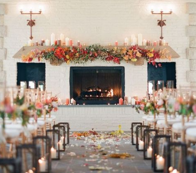 Venues with fireplaces are best for winter weddings