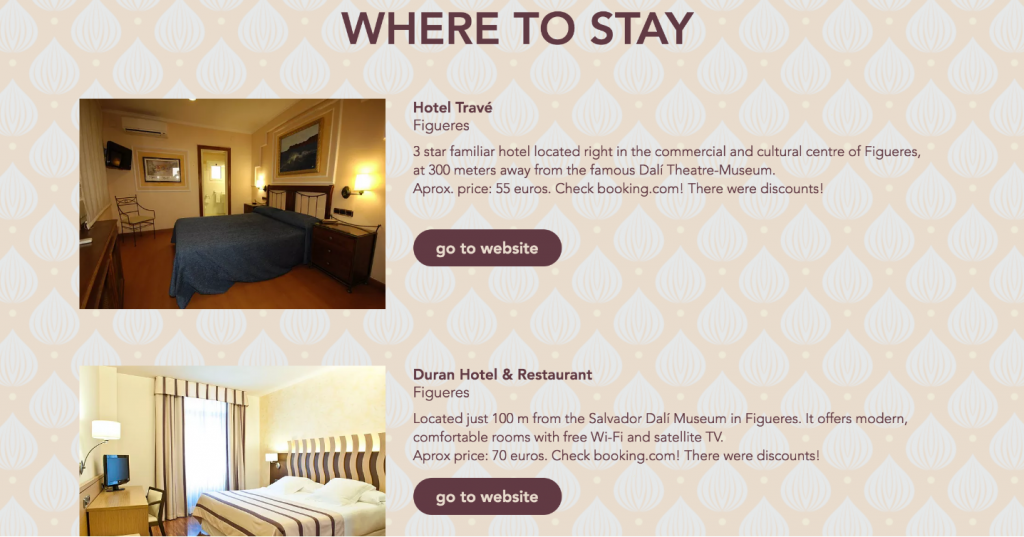 wedding websites must include accommodation information