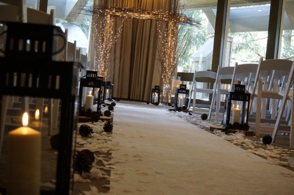 winter wedding celebration decor